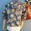 เสื้อแจ๊กเก๊ต มี hood ผ้ายีนส์ลายดอกไม้วินเทจ thumbnail 6