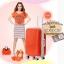 กระเป๋าเดินทางไฟเบอร์ รุ่น Aluminium ส้ม ขนาด 24 นิ้ว thumbnail 4