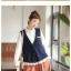 Megu เสื้อกั๊ก ผ้าไหมพรมนิ่ม แต่งลูกไม้ถัก thumbnail 10