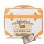 กระเป๋าเดินทางวินเทจ รุ่น colorful ขาวคาดน้ำตาล ขนาด 22 นิ้ว thumbnail 2