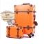 กระเป๋าเดินทางวินเทจ รุ่น vintage retro ส้มคาดน้ำตาล เซ็ตคู่ ขนาด 12+24 นิ้ว thumbnail 1