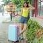 กระเป๋าเดินทางล้อลากไฟเบอร์ รุ่น colorful ฟ้าขอบชมพูเข้ม ขนาด 20/24/28 นิ้ว thumbnail 7