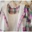 Megu เสื้อผ้าฝ้ายลายสก้อต มี hood สีหวาน thumbnail 4