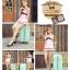 """กระเป๋าเดินทางไฟเบอร์ PC+ABS Lovely Polka dot สีเขียวพาสเทล ลายจุดขาว (ไซต์ 18"""",22"""",26"""") thumbnail 4"""