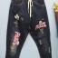 กางเกงยีนส์ขายาวสีดำฟอก สกรีนลายมิกกี้ thumbnail 3