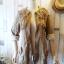เสื้อคลุม overcoat แต่งลูกไม้ เอวรูด( สีน้ำตาล ) thumbnail 2