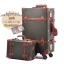 กระเป๋าเดินทางวินเทจ รุ่น vintage retro ดำคาดน้ำตาล เซ็ตคู่ ขนาด 12+26 นิ้ว thumbnail 1