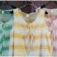 sakura เสื้อผ้าฝ้าย สไตล์ 2 ชั้น แขนกุด ลายริ้ว thumbnail 3