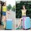 กระเป๋าเดินทางล้อลากไฟเบอร์ รุ่น colorful ฟ้าขอบชมพูเข้ม ขนาด 20/24/28 นิ้ว thumbnail 6