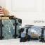 กระเป๋าเดินทางวินเทจ รุ่น เรโทรยีนส์ สีฟ้าเขียว thumbnail 5