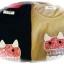 เสื้อยืด bedada แต่ง patchwork ลายแมว ชายเสื้อไขว้ สีน้ำตาลอ่อน thumbnail 7