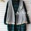 Megu เสื้อกั๊ก ผ้าไหมพรมนิ่ม แต่งลูกไม้ถัก thumbnail 8