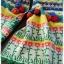 ผ้าพันคอ ไหมพรม ทอลายดอกทานตะวัน สีเหลือง thumbnail 3