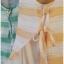sakura เสื้อผ้าฝ้าย สไตล์ 2 ชั้น แขนกุด ลายริ้ว thumbnail 5
