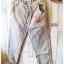 ฺButton jeans กางเกงยีนส์ขายาว สีฟ้าหมอก แต่งผ้ายืดริ้วดำเก๋ thumbnail 2
