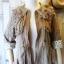 เสื้อคลุม overcoat แต่งลูกไม้ เอวรูด( สีน้ำตาล ) thumbnail 5
