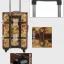 กระเป๋าเดินทางวินเทจ รุ่น vintage classic ลายดอกไม้ ขนาด 24 นิ้ว thumbnail 8