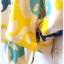 Joky gal เสื้อคลุมผ้ายืด มี hood ลายกระโหลก สีเหลือง thumbnail 4