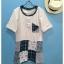 เสื้อยืดคอกลม สไตล์ญี่ปุ่น แพทชเวิรค thumbnail 1