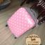 """กระเป๋าเดินทางไฟเบอร์ PC+ABS Lovely Polka dot สีชมพูอ่อน ลายจุดขาว (ไซต์ 18"""",22"""",26"""") thumbnail 10"""