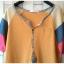 เสื้อยืดตัวยาว เนื้อผ้ายืดบางนิ่ม แต่งสลับสีผ้าที่แขนเสื้อ**สีเหลือง** thumbnail 4