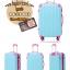 กระเป๋าเดินทางล้อลากไฟเบอร์ รุ่น colorful ฟ้าขอบชมพูเข้ม ขนาด 20/24/28 นิ้ว thumbnail 2