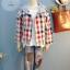 SM2 เสื้อคุลมลายสก้อตสไตล์ญี่ปุ่น มี hood thumbnail 1