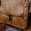 กระเป๋าหนัง pu รุ่นสะพายไหล่ ตัวล็อคเขี้ยว คาดเข็มขัดที่ฝากระเป๋า สีน้ำตาลอ่อน thumbnail 5