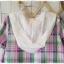 Megu เสื้อผ้าฝ้ายลายสก้อต มี hood สีหวาน thumbnail 9