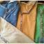 เสื้อยืดตัวยาว เนื้อผ้ายืดบางนิ่ม แต่งสลับสีผ้าที่แขนเสื้อ**สีเหลือง** thumbnail 1