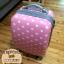 """กระเป๋าเดินทางไฟเบอร์ PC+ABS Lovely Polka dot สีชมพูอ่อน ลายจุดขาว (ไซต์ 18"""",22"""",26"""") thumbnail 11"""