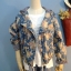 เสื้อแจ๊กเก๊ต มี hood ผ้ายีนส์ลายดอกไม้วินเทจ thumbnail 3