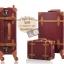 กระเป๋าเดินทางล้อลากวินเทจ รุ่น vintage retro สีช็อกโกแลต เซ็ตคู่ ขนาด 12+22 นิ้ว thumbnail 5