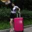กระเป๋าเดินทางไฟเบอร์ รุ่น Aluminium ชมพูเข้ม ขนาด 28 นิ้ว thumbnail 7