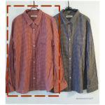 sm2 เสื้อเชิ้ตลายสก้อตสไตล์ญี่ปุ่น สีแดง