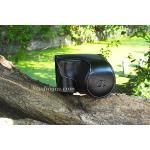 Case หนัง สีดำ สำหรับกล้อง SONY A6000 NEX6