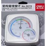 Deli no.9019 Indoor Thermo-Hygrometer เครื่องวัดความชื้นและอุณหภูมิ สีขาว