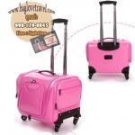 กระเป๋าเดินทางใบเล็ก รุ่น beauty สีชมพูเข้ม ขนาด 16 นิ้ว