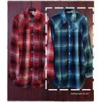 SM2 เสื้อเชิ้ตผ้าฝ้ายสไตล์ลำลองญี่ปุ่น ลายสก้อตสีสวยสด สีเขียว