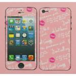 iPhone 4 - ฟิล์มลาย (ลาย Kiss)