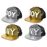 **หมวก Boy&NY | Boyทอง-เงิน,Nyทอง-เงิน | รอบหมวก 50 ซม. (48-52 ซม. ปรับได้) สำหรับเด็กอายุ 2-7ปี | 4ใบ/แพ๊ค | เฉลี่ย 75/ใบ