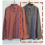 sm2 เสื้อเชิ้ตลายสก้อตสไตล์ญี่ปุ่น สีกรมท่า