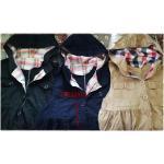 A G plus เสื้อคลุมแจ๊กเก๊ตตัวยาว มี hood สไตล์ญี่ปุ่น สีกรมท่า