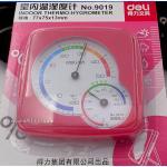 Deli no.9019 Indoor Thermo-Hygrometer เครื่องวัดความชื้นและอุณหภูมิ สีชมพู