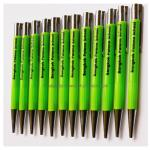 ปากกาพลาสติกโรงเรียนบางกอกพัฒนาสกรีนโลโก้