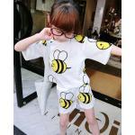 **ชุดเซ็ตกางเกงผึ้งน้อยตามรูป   ตามรูปขาว   7-9-11-13-15   5ชุด/แพ๊ค   เฉลี่ย 190/ชุด