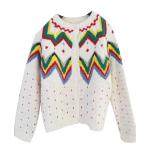 Nordic Style เสื้อคลุม cardigan กันหนาวลายสแกนดิเนเวีย สีขาว
