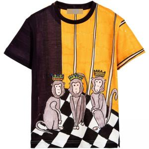 (แนะนำสินค้า) Dolce & Gabbana - Purple & Orange Three Wise Monkeys T-Shirt