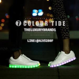 รองเท้า LED SIMULATION SHOES มีไฟ เรืองแสง รองเท้าเปลี่ยนสีไฟได้
