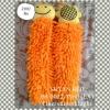 พรมเช็ดมือตัวหนอน ไมโครไฟเบอร์ สีส้ม